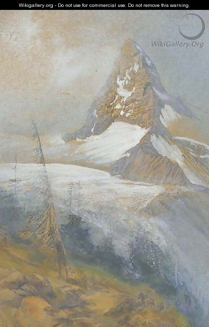 The Matterhorn, Zermatt - Albert Goodwin