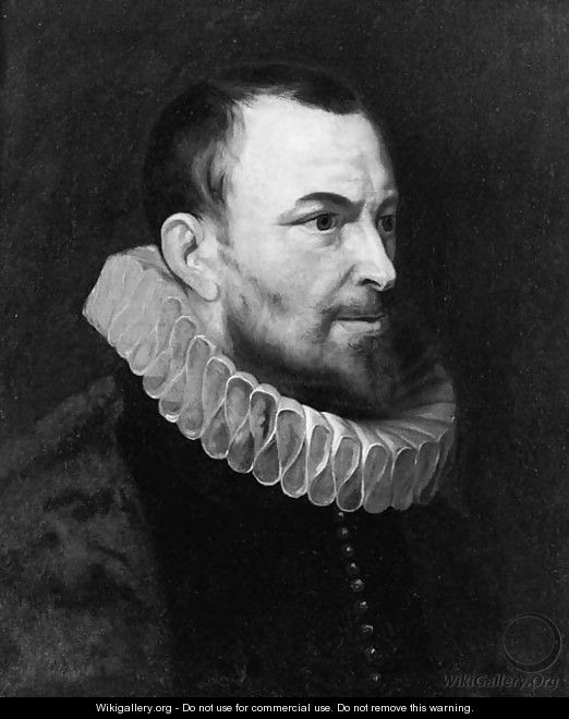 Portrait of Nicolaes Rockox (1560-1640) , half length, in profile to the right, wearing a dark costume and a molenkraag - (after) Sir Peter Paul Rubens