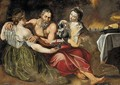 Lot and his Daughters - (after) Sir Peter Paul Rubens
