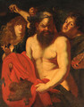 Drunken Silenus Attended By Bacchantes - (after) Sir Peter Paul Rubens