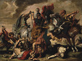 A Lion Hunt - (after) Sir Peter Paul Rubens