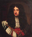 Portrait of Charles II, quarter-length, feigned oval - (after) Sir Peter Lely