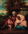 The Holy Family with the Infant Saint John the Baptist - (after) Sir Joshua Reynolds