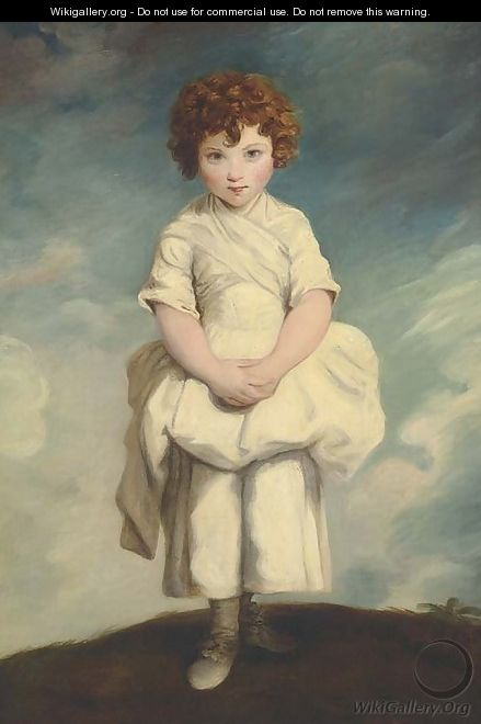 Portrait of Lady Gertrude Fitzpatrick as a child - (after) Sir Joshua Reynolds