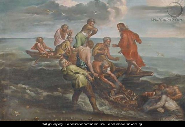 The Miraculous Draught of Fishes 2 - (after) Sir Peter Paul Rubens