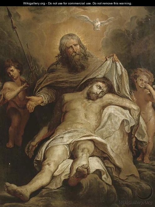 The Holy Trinity - (after) Sir Peter Paul Rubens