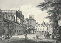 Whitehall Court with part of the Banqueting House, by E. Rooker - (after) Paul Sandby