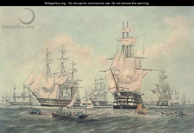 The fleet at anchor - Thomas Goldsworth Dutton