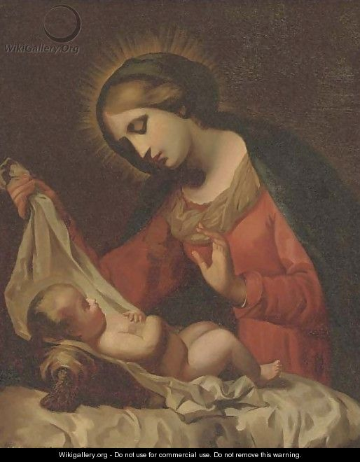 The Madonna of the Veil - (after) Onorio Marinari