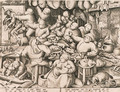 The rich Kitchen, by Pieter van der Heyden - (after) Pieter The Elder Bruegel
