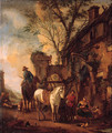 Travellers resting before an inn - (after) Philips Wouwerman