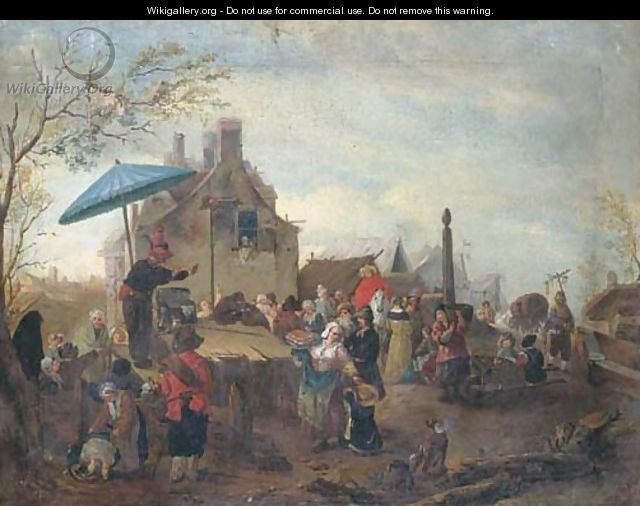 A market scene with a quack - (after) Philips Wouwerman