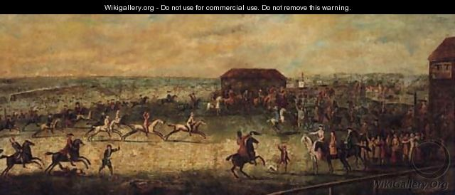 A View of a Match on the Long Course, Newmarket - (after) Peter Tillemans