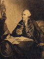 Portrait Of John Wilkes, Small Three-Quarter-Length, Seated At His Desk, With A Medallion Bust Of Hampden To His Left - Robert Edge Pine
