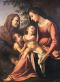 The Madonna and Child with the Infant Saint John the Baptist and Saint Elizabeth - Raphael