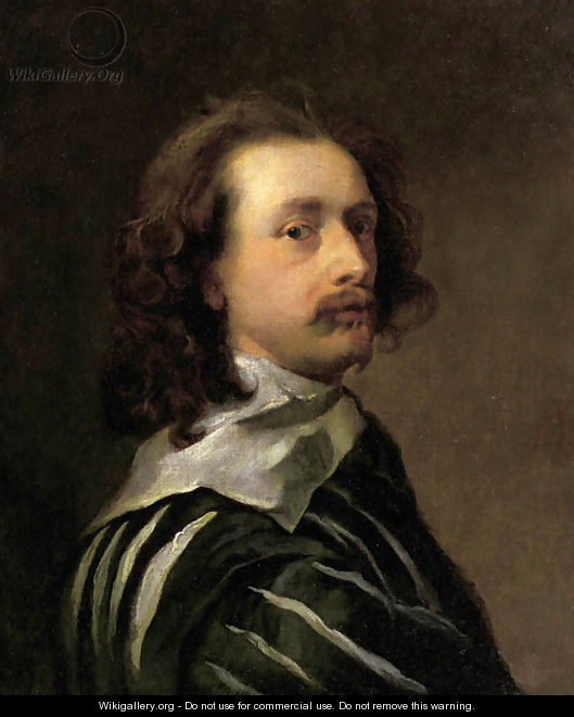 Portrait of the artist, bust length in profile to the right - Sir Anthony Van Dyck