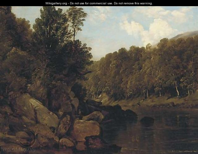 A tranquil stretch of the river - (after) Frederick Richard Lee