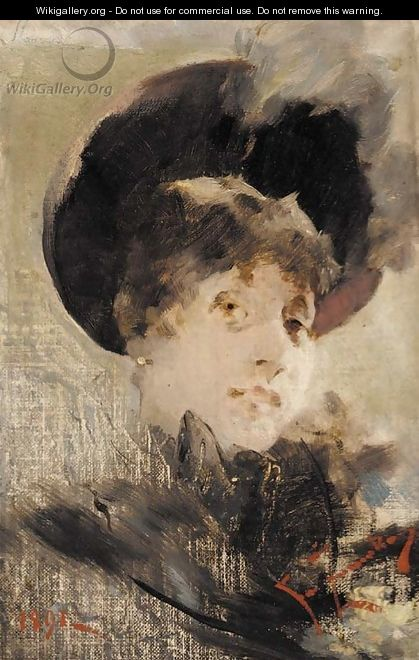 Portrait of a lady - (after) Franciszek Zmurko