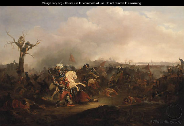 A Cavalry Skirmish - (after) Rugendas, Georg Philipp I