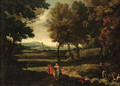 An extensive Italianate Landscape - (after) Gaspard Dughet