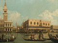 The Molo, Venice with the Doge's Palace and the Piazzetta from the Bacino di San Marco - (after) (Giovanni Antonio Canal) Canaletto