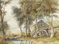Riding past the watermill - (after) Cox, David
