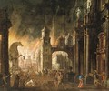 The Sack of Troy - (after) Daniel Van Heil