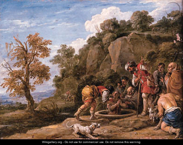 Joseph put into the Well by his Brothers - (after) David The Younger Teniers