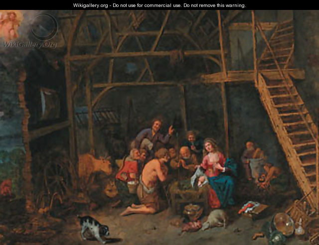 The Adoration of the Shepherds - (after) David Ryckaert