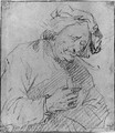 A Smoker holding a Glass - (after) Egbert Jaspersz. Van, The Elder Heemskerck