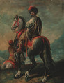 A mounted Turk - (after) Francesco Simonini