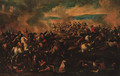 A cavalry engagement - (after) Antonio Calza