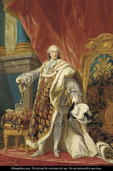 King Louis XV, in full ceremonial dress - (after) Antoine-Francois Callet