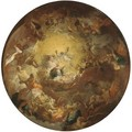 The Assumption of the Virgin a modello for a domed ceiling - (after) Antoine The Younger Berthelemy