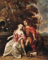 Venus and Adonis - (after) Arie De Vois