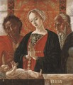 The Madonna and Child with Saint John the Baptist and another Saint - (after) Antonio Leonelli Da Crevalcore