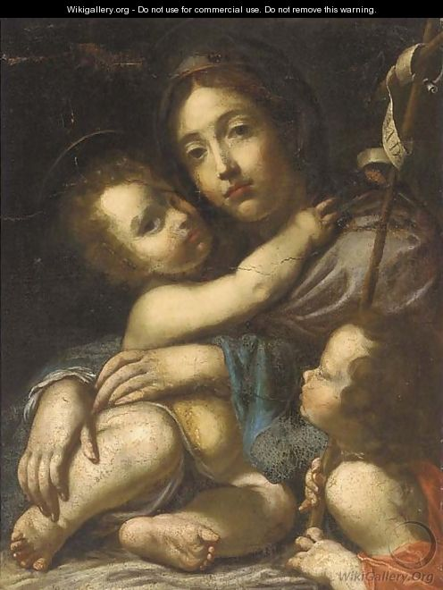 The Madonna and Child with the Infant Saint John the Baptist - (after) Cesare Dandini