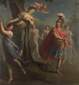 Armida enchanting Rinaldo; and The warriors in Armida's garden - (after) Claudio Francesco Beaumont