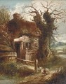 A cottage by a stream - (after) Charles Morris