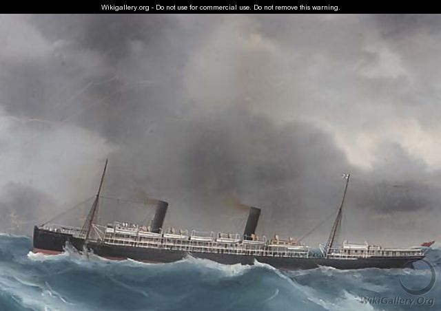 R.M.S. Ophir in heavy weather - (after) A. De Simone