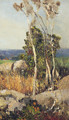Trees And Boulders In An Extensive Landscape - (after) Adolfo Tommasi