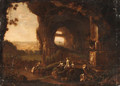 Nymphs bathing by a Grotto - (after) Abraham Van Cuylenborch