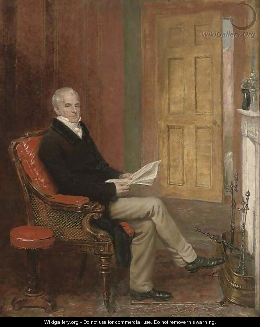 Portrait of a gentleman - (after) Andrew Geddes