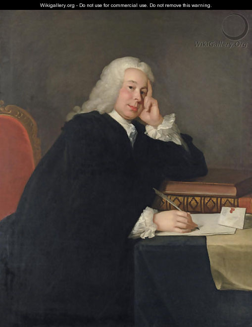 Portrait of Nicholas Hardinge, M.P. (1699-1758) - (after) Allan Ramsay