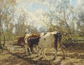 Leading the cattle along a country track - Arnold Marc Gorter