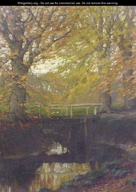 Herfstgoud beech trees in autumn - Arnold Marc Gorter