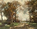 Cows on a birchpath - Arnold Marc Gorter