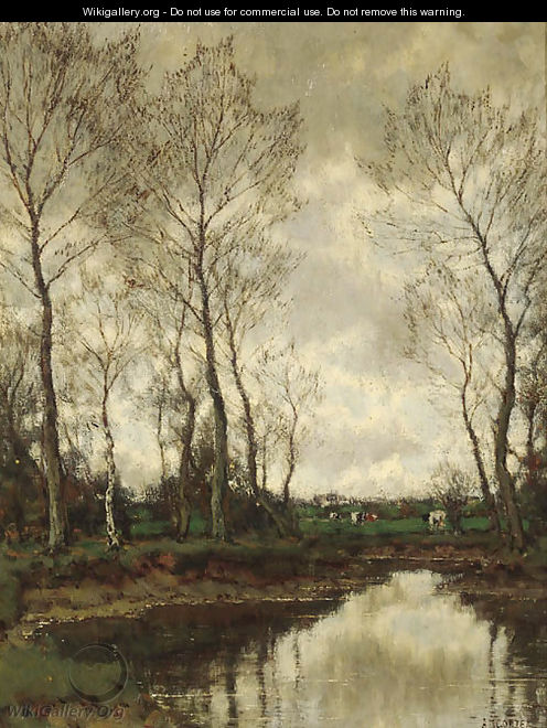 Brook in a forest - Arnold Marc Gorter