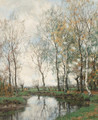 Birches along the Vordense beek - Arnold Marc Gorter