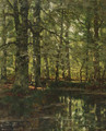 A forest pond - Arnold Marc Gorter